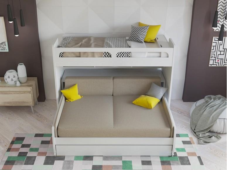 Bel Mondo Twin Over Full/Full XL Bunk Bed Set